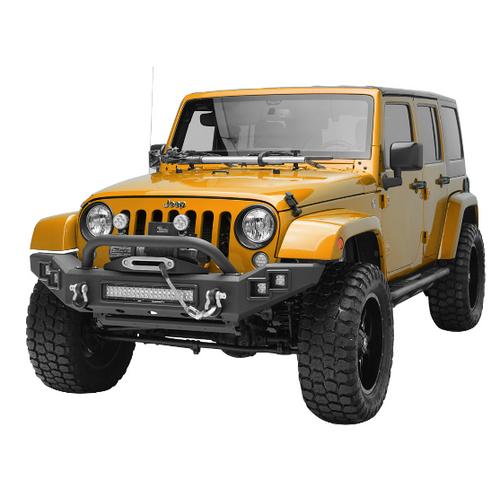 Paramount Automotive 51-7016 Full Width LED Light Style Front Bumper for Jeep Wrangler JK 2007-2018