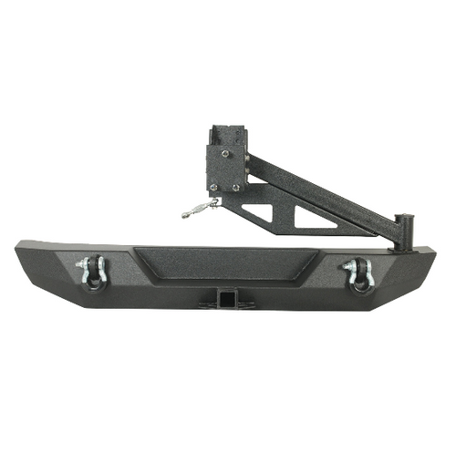 Paramount Automotive 51-0395 Rear Bumper with Tire Carrier for Jeep Wrangler JK 2007-2018