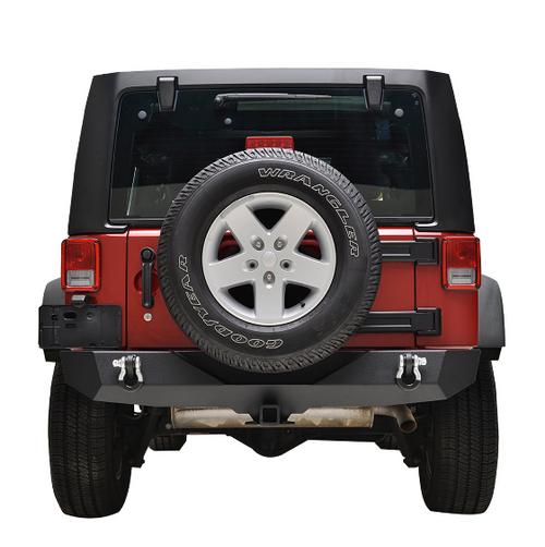 Paramount Automotive 51-0310 Heavy Duty Rock Crawler Rear Bumper for Jeep Wrangler JK 2007-2018