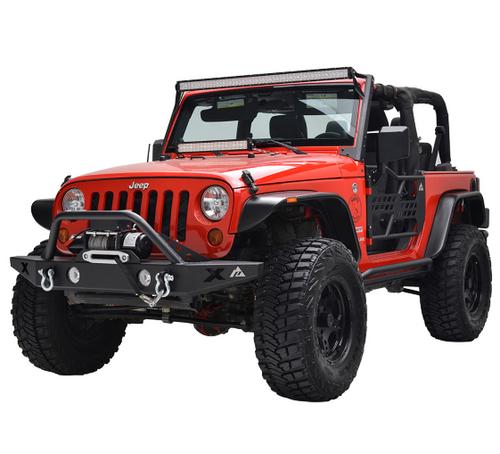 Paramount Automotive 17195 Flat Style Fender Flares for Jeep Wrangler JK 2007-2018