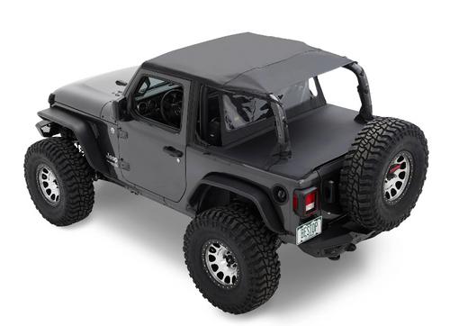 Bestop 52607-35 Header Safari Bikini Top for Jeep Wrangler JL 2 Door 2018+