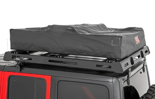 Rough Country 99050 Roof Top Tent | Rack Mount | 12V Accessory & LED Light Kit | Standard Ladder