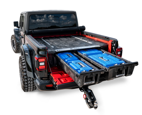 Decked AD5 D-Box Tool Box in Blue for Jeep JT Decked Storage System 2020+