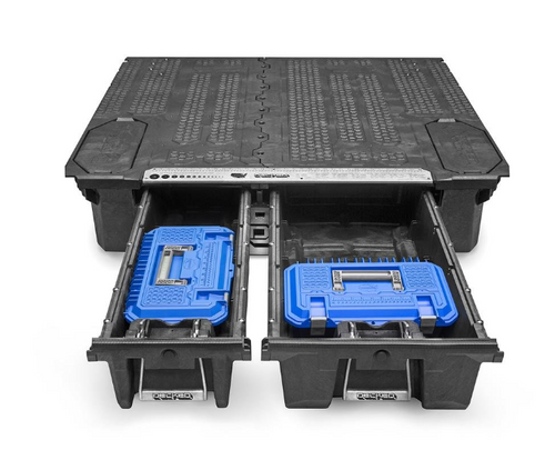 Decked AD6 Crossbox Tool Box in Blue for Truck Bed Storage System for Jeep Gladiator JT 2020+
