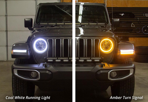 Diode Dynamics DD2241 HD LED Headlight Halo Rings for Jeep Wrangler JL & Gladiator JT 2018+