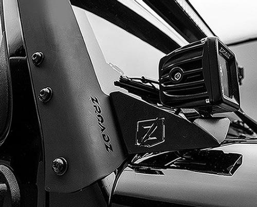ZROADS Z374814-KIT A-Pillar Lower LED Light Pod Mounts with Pod Lights for Jeep Wrangler JK 2007-2018