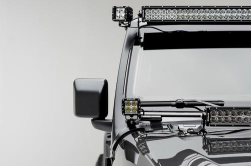 ZROADZ Z334851-KIT2 Side Mount Brackets with LED Pod Lights for Jeep JL & JT with ZROADZ Front Roof Mounts 2018+
