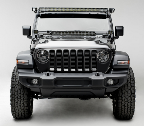 "ZROADZ Z344831-KIT-D Hood Hinge Mounting Kit with 30"" Double Row Light Bar for Jeep Wrangler JL & Gladiator JT 2018+"
