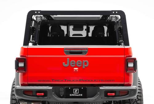 ZROADZ Z834101 Overland Access Rack with Side Gates & LED Pod Lights for Jeep Gladiator JT 2020+