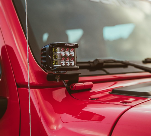 Rigid Industries 41659 A-Pillar LED Light Mounts for Jeep Wrangler JL 2018+