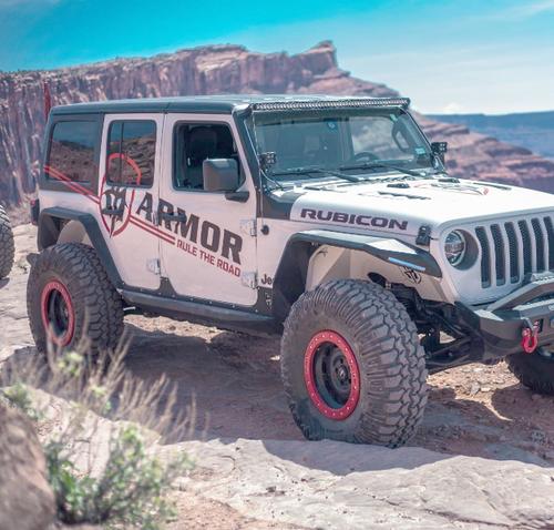 Road Armor 518ARG4B Stealth Body Armor Rocker Panels for Jeep Wrangler JL 4 Door 2018+