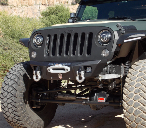 Road Armor 5180F0B Stealth Competition Cut Front Winch Bumper for Jeep Wrangler JK, JL & Gladiator JT 2007+