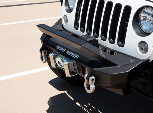 Road Armor 5072F0B Stealth Mid Width Front Winch Bumper for Jeep Wrangler JK 2007-2018