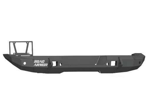 Road Armor 5182R1B Stealth Mid Width Rear Bumper with Tire Carrier Provision for Jeep Wrangler JL 2018+
