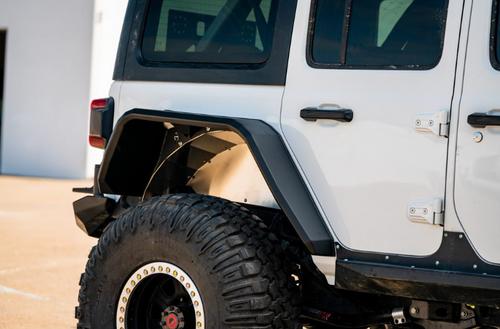 Road Armor 518AFRWB Stealth Steel Rear Fender Flares Wide for Jeep Wrangler JL 2018+