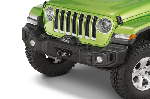 Rugged Ridge 11543.16 Winch Mount Plate for Factory Steel or Spartacus Front Bumper for Jeep Wrangler JL & Gladiator JT 2018+