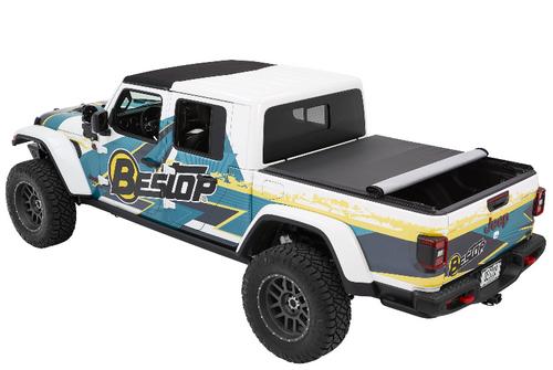 Bestop 19280-35 EZ-Roll Soft Tonneau Cover in Black Diamond for Jeep Gladiator JT 2020+