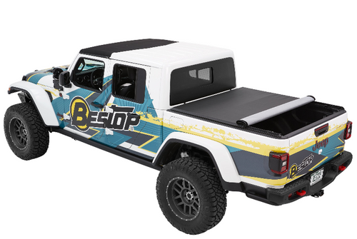 Bestop 19280-17 EZ-Roll Soft Tonneau Cover in Twill for Jeep Gladiator JT 2020+
