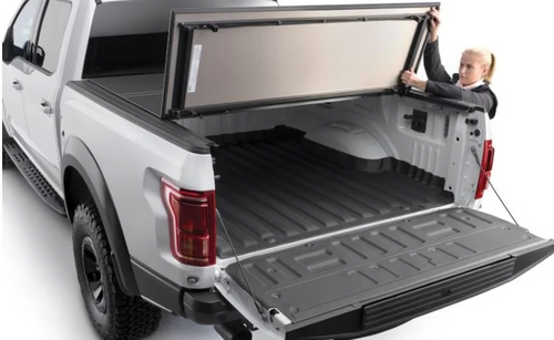 WeatherTech 8HF070025 AlloyCover Hard Tri-Fold Bed Cover for Trail Rail System for Jeep Gladiator JT 2020+