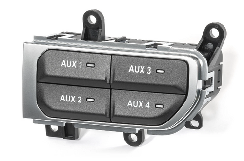 Mopar 82215798AE Auxiliary Switch Bank in Chrome Trim for Rubicon Jeep Wrangler JL & Gladiator JT 2018+