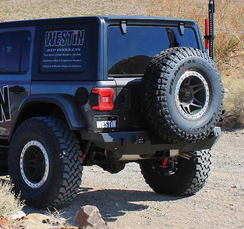 Westin Automotive 59-82025 WJ2 Rear Bumper- No Backup Sensors for Jeep Wrangler JL 2018+