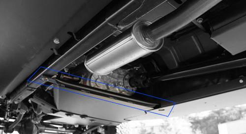 Rock Hard 4x4 T-Case Skid Mounted on Jeep Wrangler JK