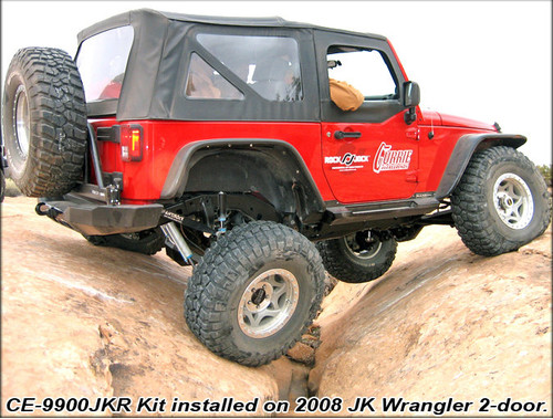 RockJock CE-9900JKR4A Rear AntiRock Sway Bar Kit for Jeep Wrangler JK 4 Door 2007-2018