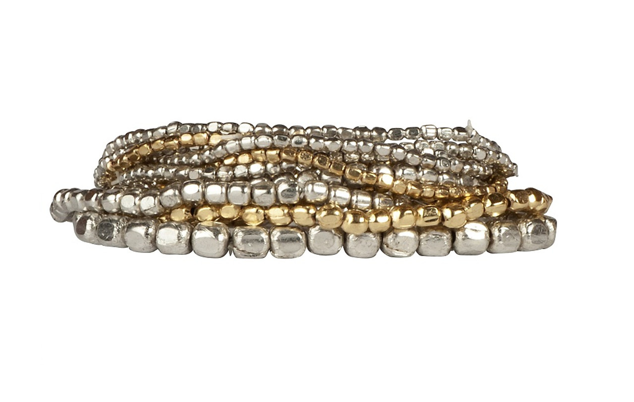 Liquid Bead Bracelet Set In Mixed Silver and Gold- NEW COLOR ... 55245aea4265