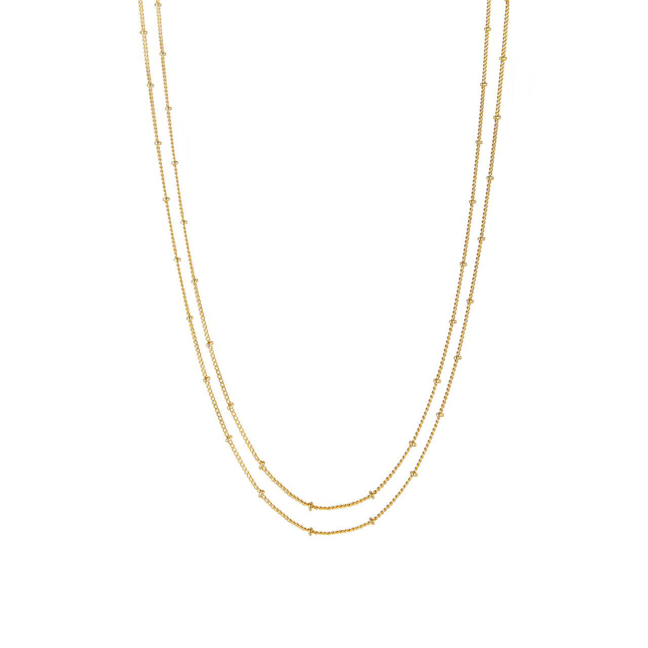 87a98c97e216f Delicate Double Chain Necklace in Gold