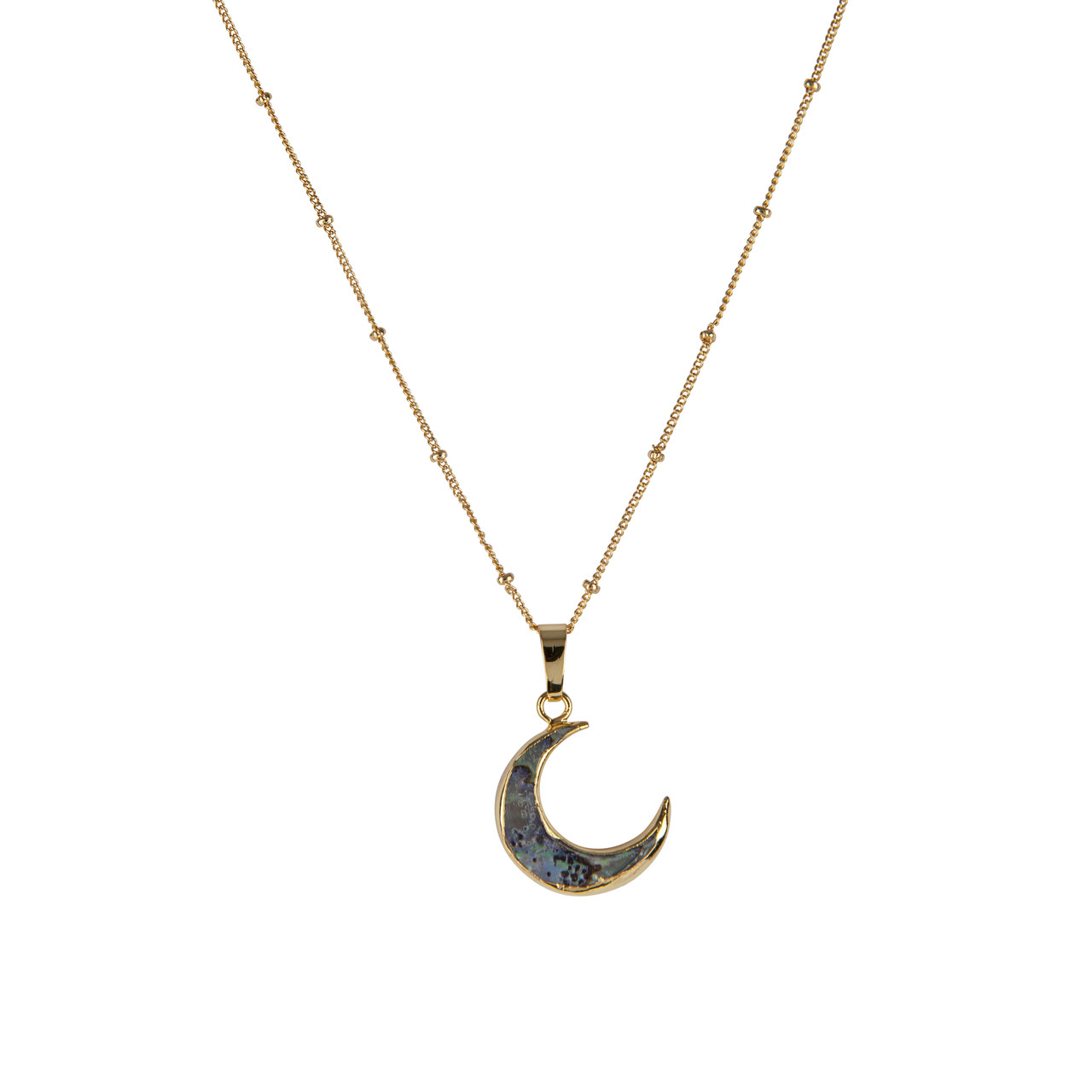 857665ff860b11 Abalone Crescent Moon Necklace - Presh