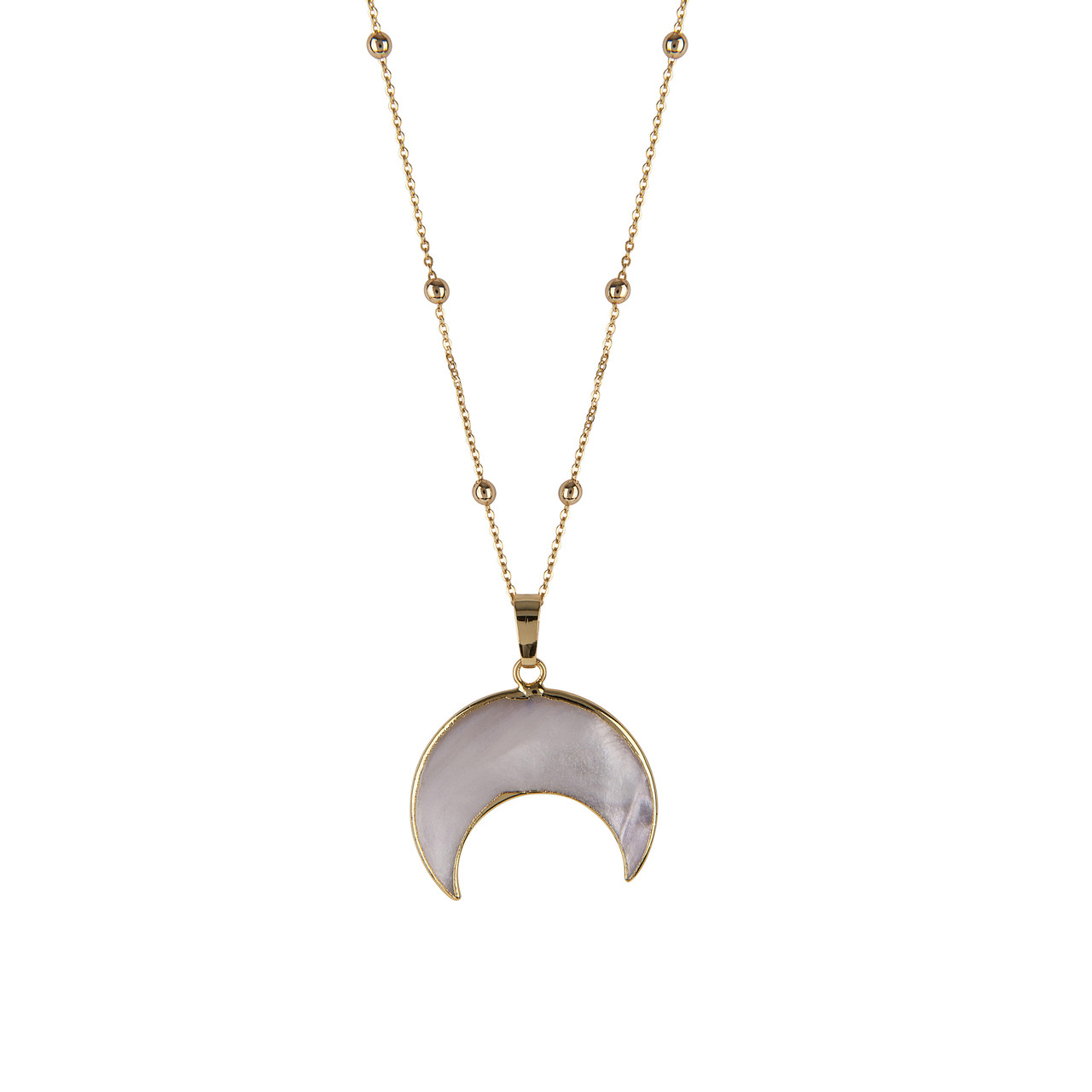 5282a55f8bd781 Crescent Moon Mother of Pearl Necklace - Presh