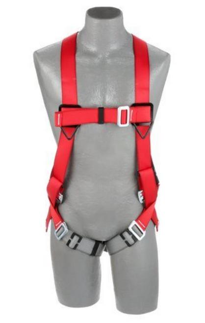 BACK D-RING, PASS-THRU BUCKLE LEG STRAPS (SIZE MEDIUM/LARGE).