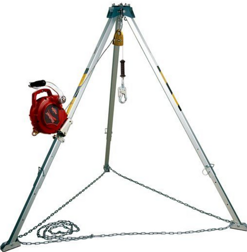 CONFINED SPACE KIT PROTECTA 50FT 3 WAY 7FT TRIPOD PULLEY BAG