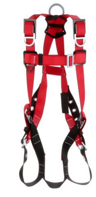BACK AND SHOULDER D-RINGS, TONGUE BUCKLE LEG STRAPS (SIZE SMALL).