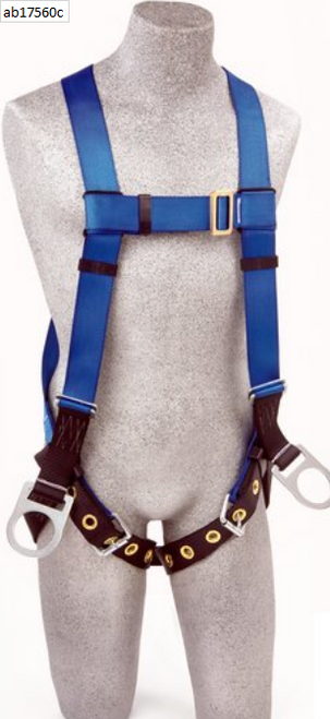 BACK AND SIDE D-RINGS, TONGUE BUCKLE LEG STRAPS (SIZE UNIVERSAL).