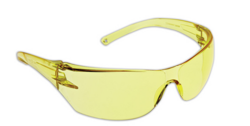 CURVE SAFETY GLASSES CLEAR LENS