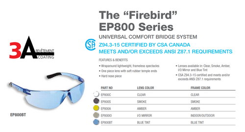 FIREBIRD SAFETY GLASSES CLEAR