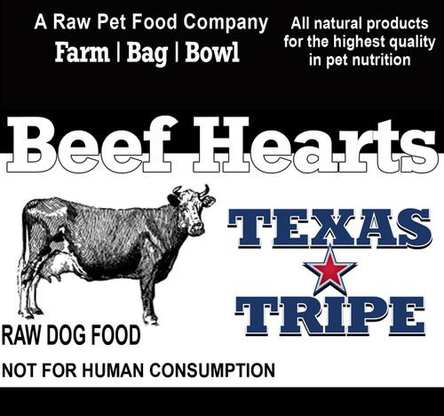 Beef Hearts 17 lb. case