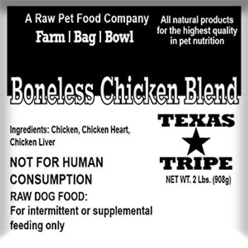 Boneless Chicken Blend - 20 lb case
