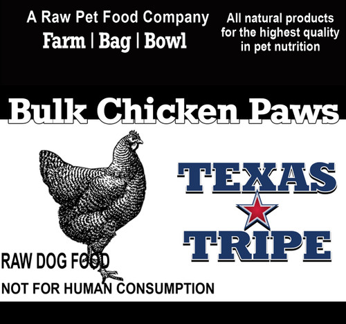 BULK Chicken Paws 40 lb case