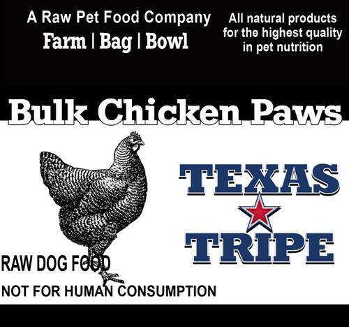 BULK Chicken Paws 40 lb case