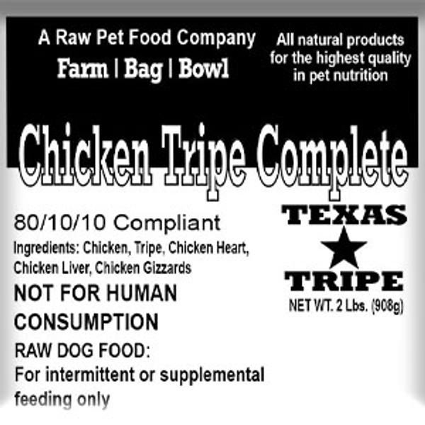 Chicken Tripe Complete - 20 lb. case