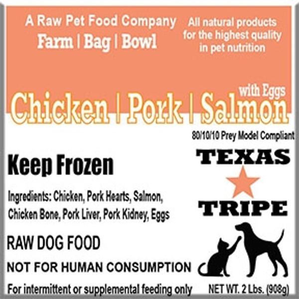 Chicken / Pork / Salmon w / Egg - 20 lb Case