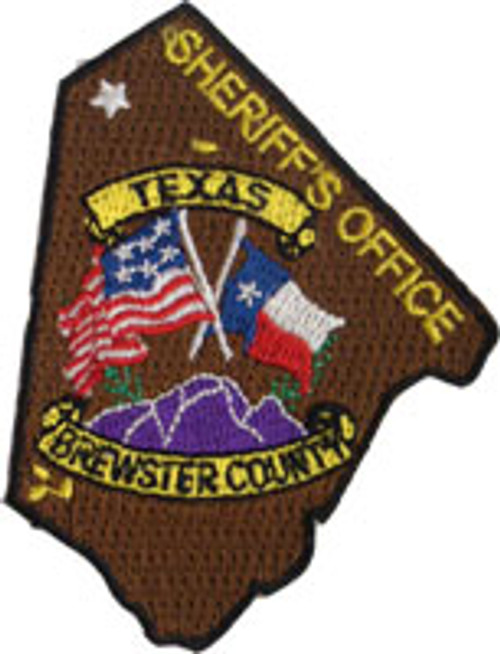 Brewster County Sheriff's Patch Plaque