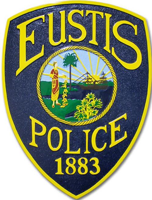 Eustis Police Patch Plaque