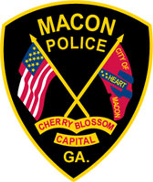 Macon Police Patch Plaque