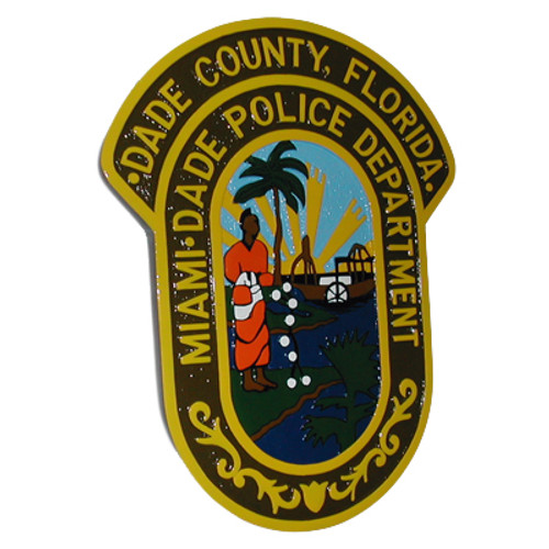 Miami-Dade Police Department Hand Carved VIP Plaque (Patch)