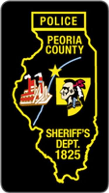 Peoria Police Patch Plaque