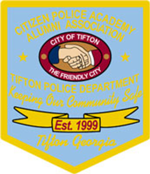 Tifton Police - Academy Patch Plaque