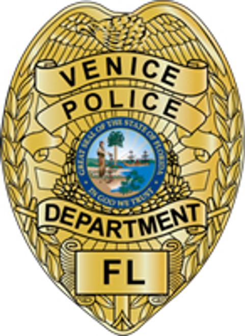 Venice Police Department Patch Plaque